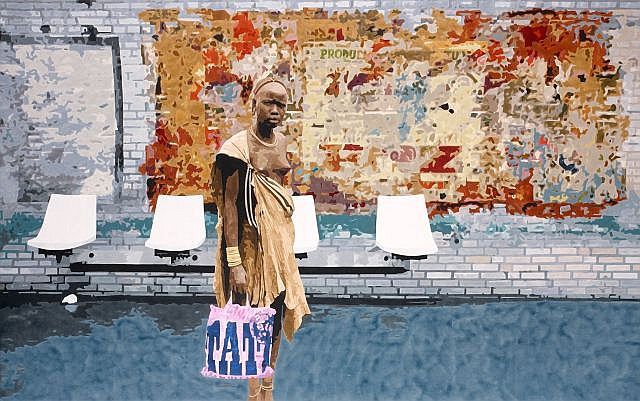 Antoine GAMARD (né en 1977) STRASBOURG SAINT-DENIS, 2010 Acrylique sur toile