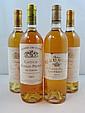 6 bouteilles 2 bts : CHÂTEAU RABAUD PROMIS 2003 1er GC Sauternes (Etiquettes léger abimées)