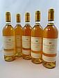 5 bouteilles CHÂTEAU D'YQUEM 1994 1er cru Supérieur Sauternes