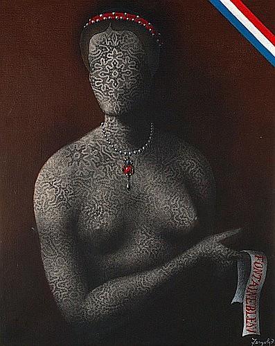 Sergio FERGOLA (1936 - 1994) FONTAINEBLEU, 1974 Huile sur toile