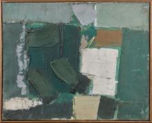 Olivier DEBRE (1920 - 1999) Le jardin - 1957 Huile sur toile