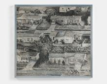 Richard ARTSCHWAGER (1923 - 2013) Homes 11 - 1967 Acrylique sur celotex