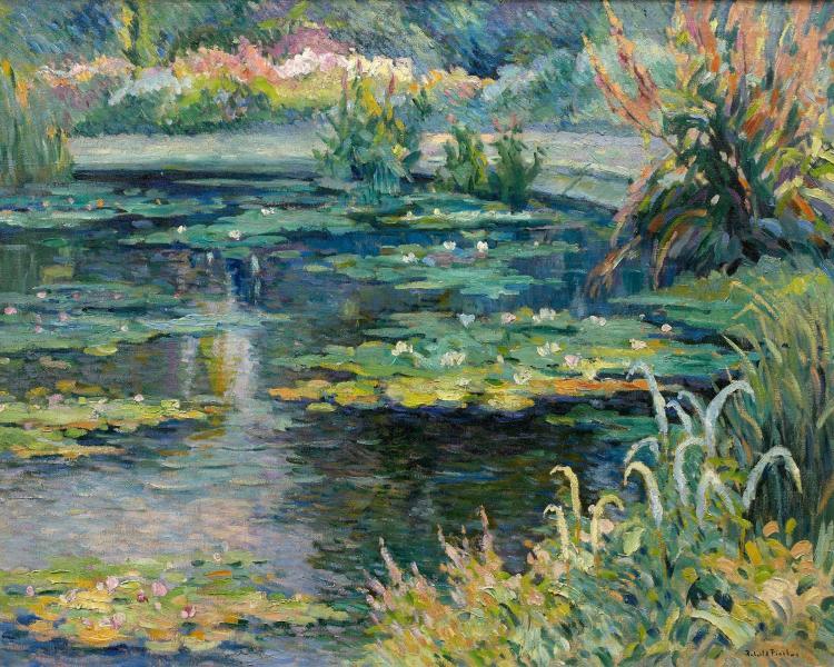 Robert antoine pinchon 1886 1943 le bassin du jardin des for Toile bassin