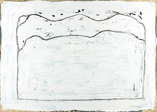 Joan HERNANDEZ-PIJUAN (né en 1931) PAISATGE A FOLQUER, 1988 Huile sur papier Japon marou...