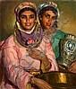 José CRUZ HERRERA (La Linéa, 1890-Casablanca, 1972) Deux jeunes marocaines Huile sur toile, José Cruz Herrera, Click for value