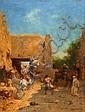 Eugène FROMENTIN (La Rochelle, 1820 - La Rochelle, 1876) Le départ pour la chasse à Laghouat, 1868 Huile sur panneau, Eugene Fromentin, Click for value
