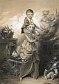 Louis-Léopold Boilly La Bassée, 1761 - Paris, 1845 La petite soeur Estompe et rehauts de gouache blanche sur trait de crayon, Louis-Leopold Boilly, Click for value