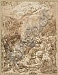 Attribué à Giovanni Battista Castello Gênes, 1547 - Madrid, 1639 La chute de saint Paul sur la route de Damas Plume et encre brune,..., Giovanni Battista (1547) Castello, Click for value