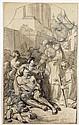 Jean Bardin Montbard, 1732 - Orléans, 1809 Saint Charles Borromée donnant l'aumône aux pestiférés Plume et encre grise, lavis gris, Jean (1732) Bardin, Click for value