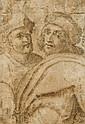 Ecole italienne vers 1600  Deux études de personnages Lavis brun sur trait de crayon
