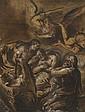 Vincenzo Spisanelli Orta Novarese, 1595 - Bologne, 1663 La mort de saint Joseph Plume et encre noire, lavis brun, rehauts d'huile su..