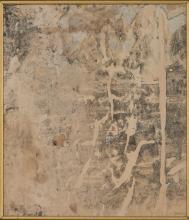 Mimmo ROTELLA (1918 - 2006) ALLA PERFEZIONE - 1958 Décollage d'affiches marouflées sur toile