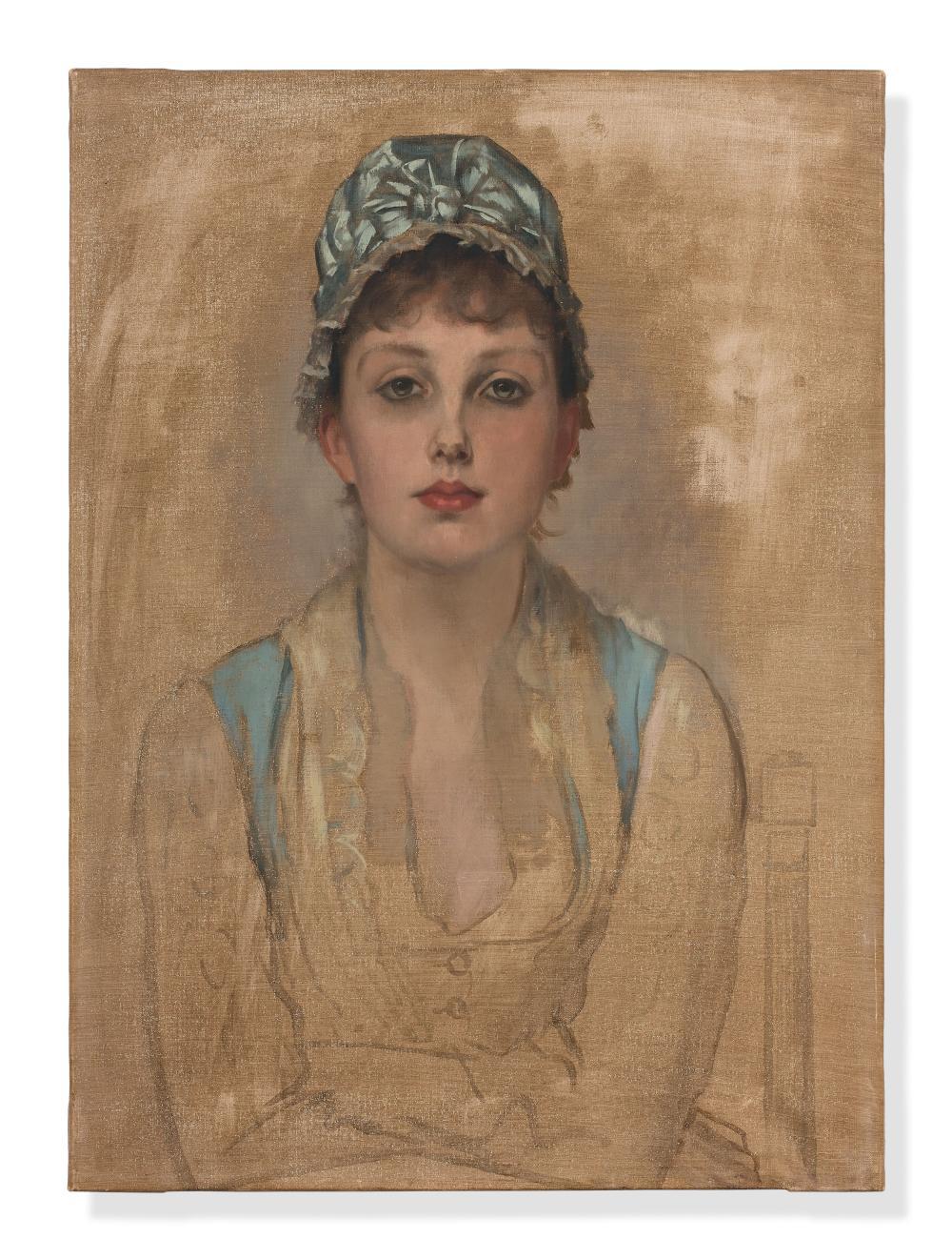 James TISSOT Nantes, 1836 - Chenecey- Buillon,1902 Portrait de Kathleen Newton Toile d'origine