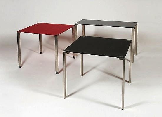 Jean NOUVEL (Né en 1945) Ensemble de trois tables