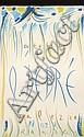 Olivier DEBRE (1920-1999) SANS TITRE, 1983 Dessin aux pastels gras de couleurs sur papier
