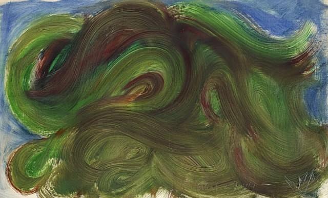 Jean MESSAGIER (1920-1999) PORTRAIT DE JUILLET, 1966 Huile sur toile