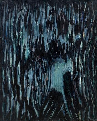 Robert HELMAN (1910-1990) FORET PROFONDE, 1961 Huile sur toile
