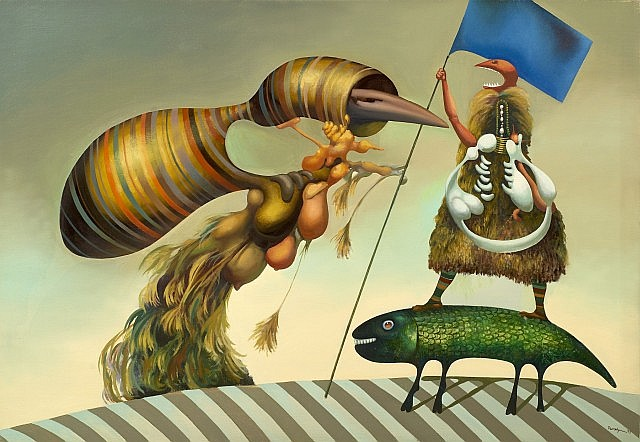 Jules PERAHIM (1914 - 2008) DRAPEAU RIGIDE AUX COULEURS INCONNUES, 1972-73 Huile sur toile