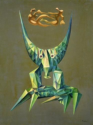 Jules PERAHIM (1914 - 2008) TAUREAU, 1969 Huile sur toile