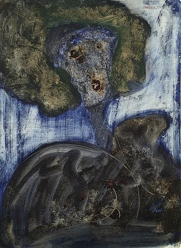 Antoni CAMARASA (Né en 1957) SANS TITRE REF 2667, 1983 Huile sur carton