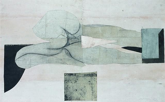 Julio POMAR (Né en 1926) PEGASE, 1977 Technique mixte sur toile