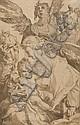 Attribué à Jan Harmensz Muller Amsterdam, 1571 - (?), 1628 Sainte Famille avec deux anges musiciens, d'après Bartholomeus Spranger P.., Jan H. Muller, Click for value