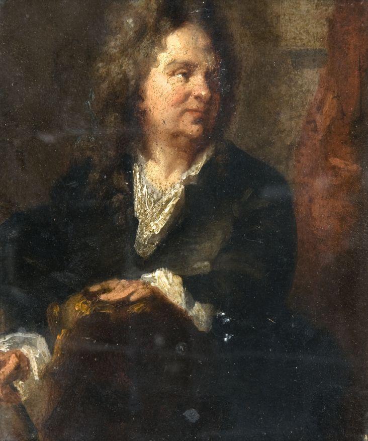 Ecole française vers 1830 D'après Hyacinthe Rigaud Portrait du sculpteur Martin van den Bogaert, dit Desjardins (1637 - 1694) Pannea..