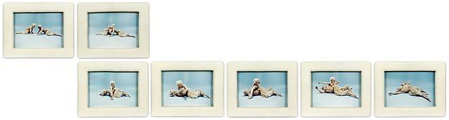 Matthew BARNEY (né en 1967) DRAWING RESTRAINT 7, (GUILLOTINE), 1993 Série de 7 tirages chromogéniques et encadrement en résine fait...