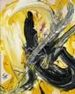 Kazuo SHIRAGA (né en 1924) BAKU, 1986 Huile sur toile