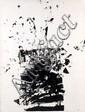 ARMAN (1928-2005) RECTANGLE NOIR, 1958 Allure d'objets, empreintes à l'encre de vitre brisée sur papier marouflé sur toile