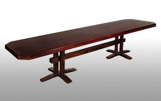 Gianfranco FRATTINI (Attribué à) (1926 - 2004) Table de salle à manger - circa 1965 Palissandre massif