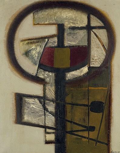 Jean PIAUBERT (né en 1900) ELEUSIS GRISE, 1958 Huile sur toile