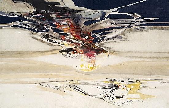 Claude GEORGES (1929 - 1988) COMPOSITION, 1973 Huile sur toile