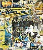 JACQUES VILLEGLE (né en 1926) GAITE-MONTPARNASSE, 1987 Affiches marouflées sur toile, Jacques Mahe de la Villegle, Click for value