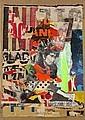Arthur AESCHBACHER (Né en 1923) BOB DYLAN A L'AFFICHE, circa 1970-71 Arrachage d'affiches sur papier marouflé sur toile, Arthur Aeschbacher, Click for value