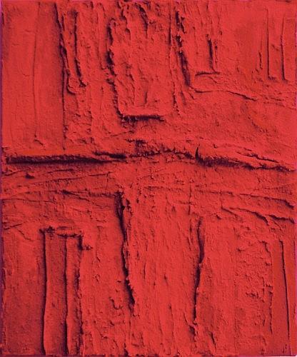 Marcello LO GIUDICE (né en 1955) RED-ROUGE, 2008 Huile et pigments sur toile