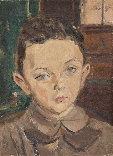 Isaac DOBRINSKY (1891-1973) PORTRAIT DE DAVID SREDNICKI, VILNA 1927 Huile sur toile