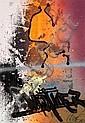 SHUCK ONE (né en 1970 -) BLACK MUTATION, 2009 Ensemble de 5 dessins à l'acrylique, peinture aérosol et marqueur sur papiers