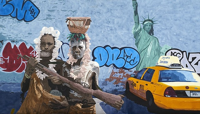 Antoine GAMARD (né en 1977) HOLIDAYS, 2009 Acrylique sur toile