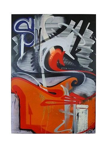 SMASH137 (né en 1979) BATTLESHIP, 2009 Peinture aérosol et acrylique sur toile