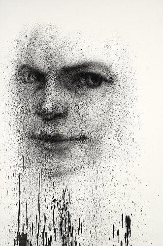 Jean FAUCHEUR (né en 1956 -) SANS TITRE, 2004 Peinture aérosol sur papier