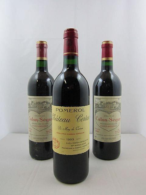 3 bouteilles 2 bts : CHÂTEAU CALON SEGUR 1995 3è GC Saint Estèphe