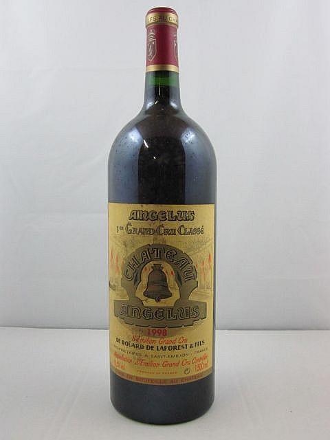 1 magnum CHÂTEAU ANGELUS 1998 1er GCC (B) Saint Emilion (étiquette sale)