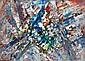 Jacques GERMAIN (1915-2001) COMPOSITION Huile sur papier marouflé sur toile