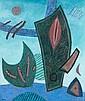 Henri GOETZ (1909-1989) COMPOSITION, 1981 Pastels gras de couleurs chauffé sur toile