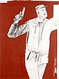 léon GOLUB (Né en 1922) SANS TITRE, 1985 Crayon gras, acrylique et liquitex sur papier