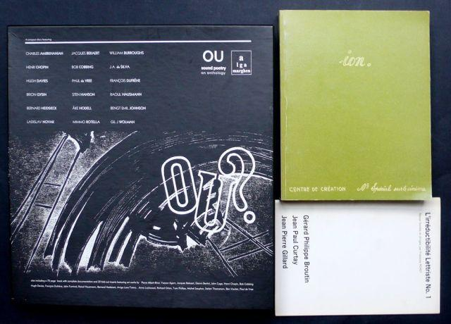 Lettrisme - Coffret OU Sound Poetry, an anthology. Ed. A Lga marghen, 2002. OU - cinquième saison. Complete recordings. Henri...