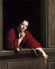 Jean-Baptiste Santerre Magny-en-Vexin, 1651 - Paris, 1717 Le Billet doux donné Huile sur toile