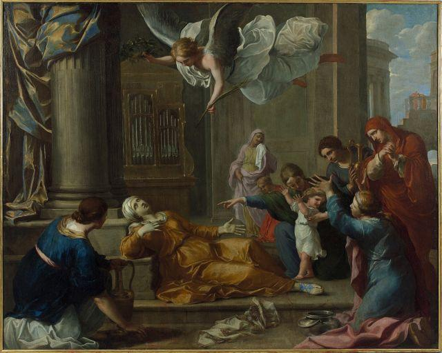 Attribué à Charles-Alphonse Dufresnoy Paris, 1611 - 1665 La mort de sainte Cécile Huile sur toile