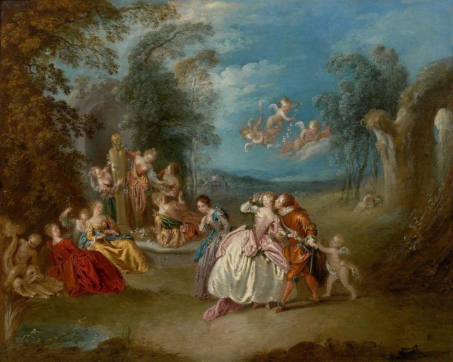 ¤ Jean-Baptiste Pater Valenciennes, 1695 - Paris, 1736 Le Colin-Maillard Huile sur toile
